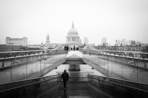 Millennium Bridge, view from the Tate Modern