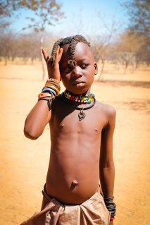 child of the Himba tribe