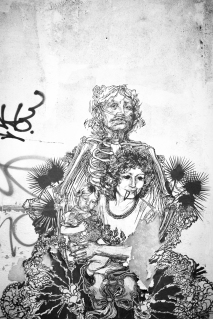 by American street artist Swoon, in Shoreditch