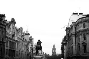 Big Ben, view from the Trafalgar Square