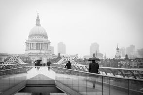 St.Paul's Cathedral, view from the Tate Modern