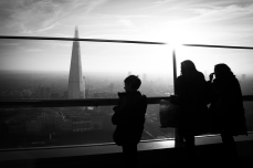"""""""Sky Garden"""" - viewing deck of the 20 Fenchurch Street skyscraper - in front of """"The Shard"""""""