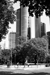 Skyscrapers at the banking district