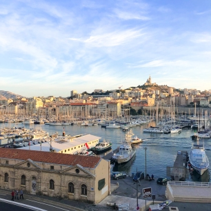 View on the Vieux Port and Notre-Dame de la Garde