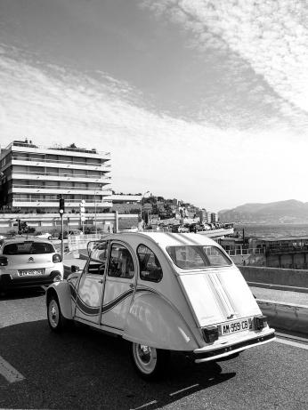 Street scene at seaside