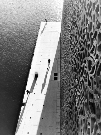 View from the bridge between MuCem and Fort Saint-Jean