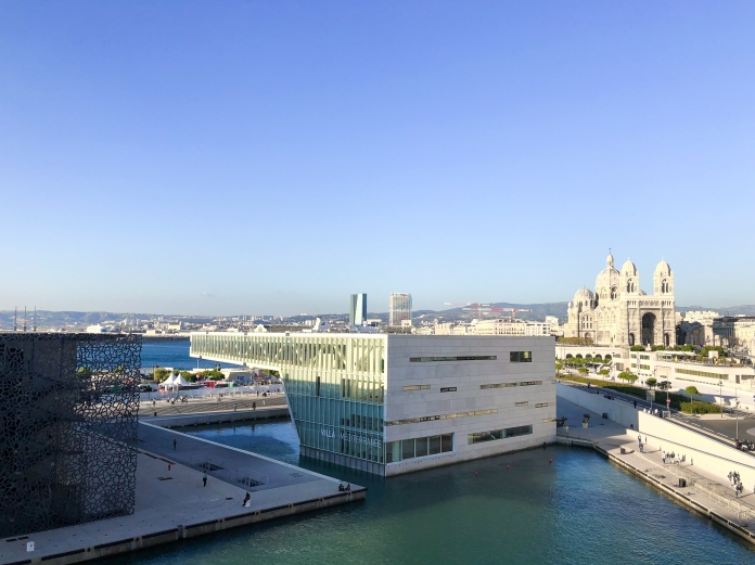 View on MuCEM and Cathédrale de la Major