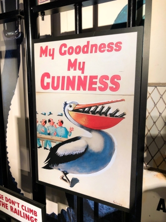 An advertising poster at the Guinness Storehouse